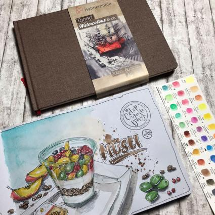 Urban Sketching, Hahnemühle, Interview, Urban Watercolor Sketching, Urban Sketcher, Toned Watercolour Book, Skizzenbuch, Skizzenblock, getöntes Papier, Aquarellpapier, Journal, Illustration, Katja Werner, cube.w3